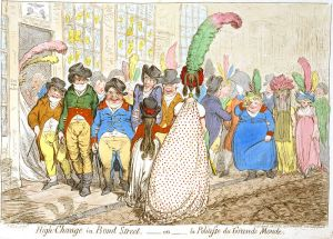 High Change in Bond Street, James Gillray, 1796, Creative Commons