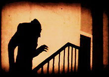 F.W. Murnau - screen shot from Nosferatu (1922), one of the first horror films